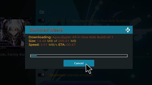How to Install Apocalyptic All in One Kids Kodi 18 Build Leia step 26