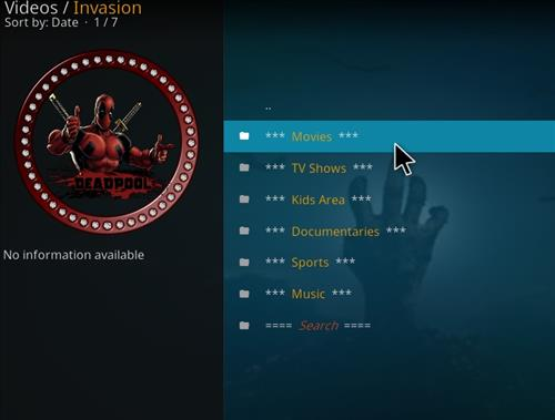 How to Install Invasion Kodi Add-on with Screenshots pic 2