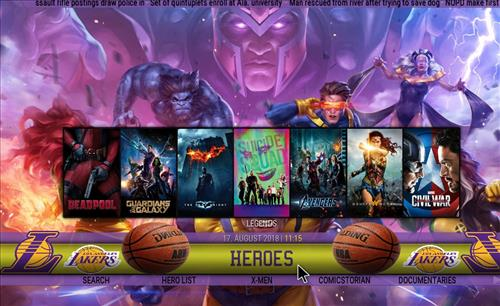 How to Install Lakers Theme Kodi Build with Screenshots pic 3