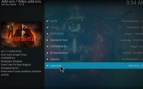 How to Install Legendary Kodi Add-on with Screenshots step 17