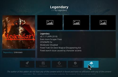 How to Install Legendary Kodi Add-on with Screenshots step 18