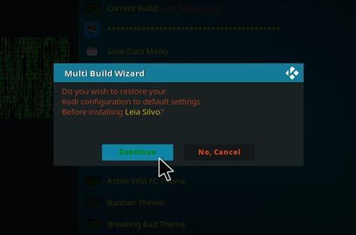 How to Install Leia Silvo Kodi Build step 19