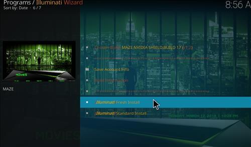 How to Install Maze Nvidia Shield Kodi Build with Screenshots step 23