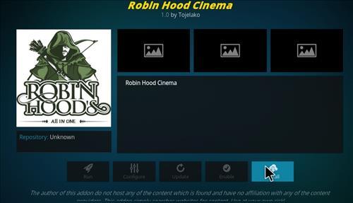 How to Install Robin Hood Cinema Kodi Add-on with Screenshots step 18
