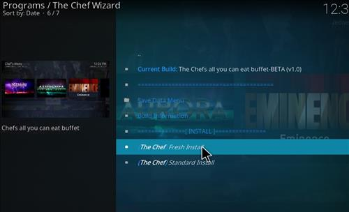 How to Install The Chefs all you can eat Buffet Kodi Build step 18