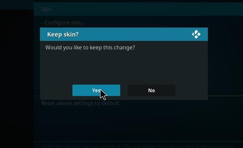 How to change the Skin back to Default Estuary maze nvdia step 5
