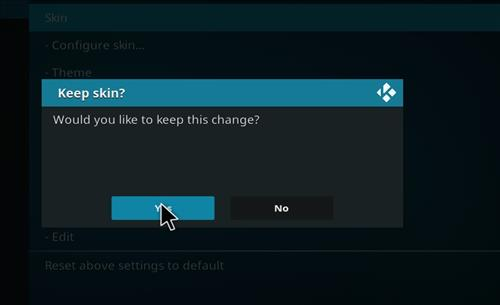 How to change the Skin back to Default Estuary razer step 5