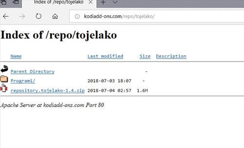 manual and download tojelako repo step 1