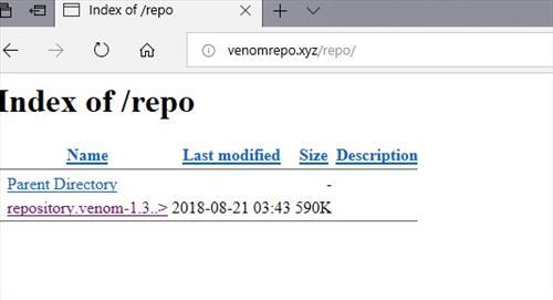 manual and download venom repo step 2