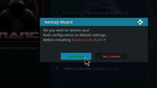 How to Install Blackout Lite Kodi Build with Screenshots step 18