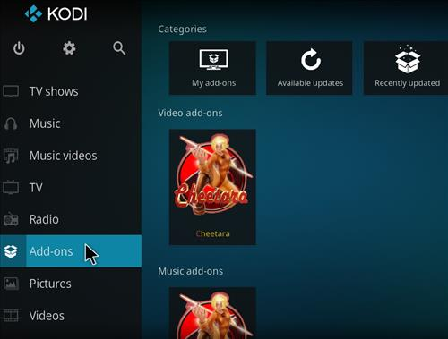 How to Install Cheetara Kodi Add-on with Screenshots step 8