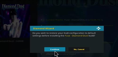 How to Install Diamond Dust Kodi Build with Screenshots step 26