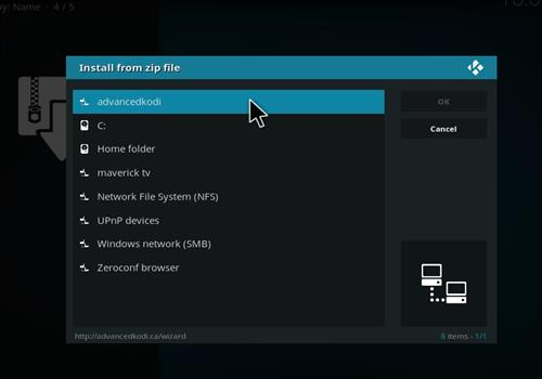 How to Install Epic Kodi Build with Screenshots step 11
