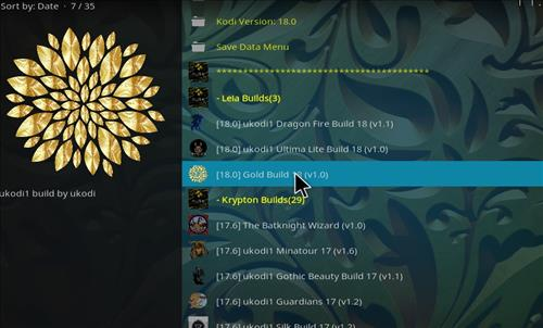 How to Install Gold Kodi Build 18 Leia step 24