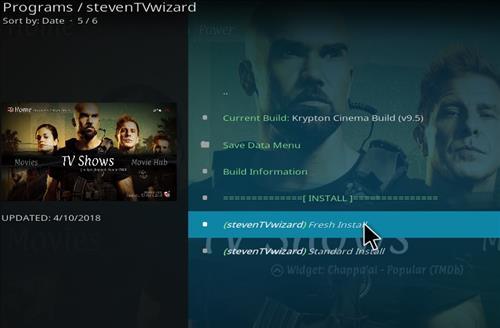 How to Install Krypton Cinema Kodi Build with Screenshots step 17