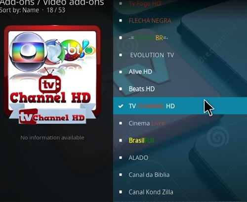 How to Install TV Channel HD Kodi Add-on with Screenshots step 17