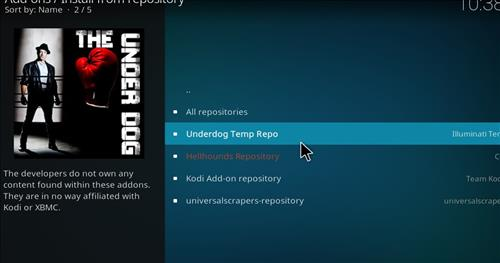 How to Install The Underdog Kodi Add-on with Screenshots step 16