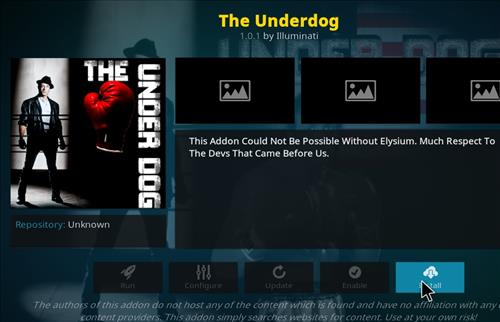 How to Install The Underdog Kodi Add-on with Screenshots step 19