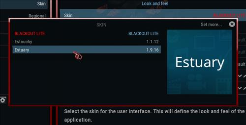 How to change the Skin back to Default Estuary blackout lite step 4