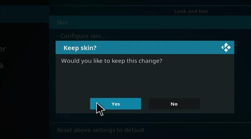 How to change the Skin back to Default Estuary gold step 5
