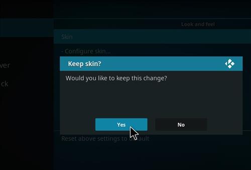 How to change the Skin back to Default EstuaryKrypton cinema step 5
