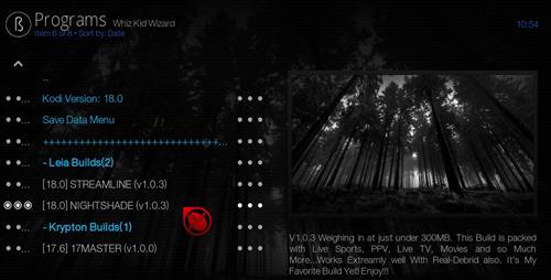 Best Working Kodi 18 Leia Builds 2018 nightshade pic 2