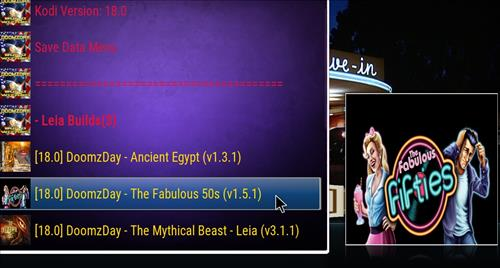 Best Working Kodi 18 Leia Builds 2018 the fabulous 50s pic 2