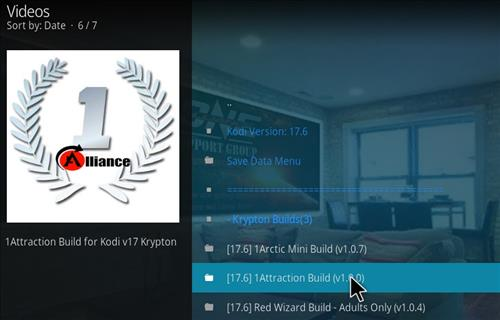 How to Install 1Attraction Kodi Build with Screenshots step 16