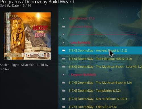 How to Install Ancient Egypt Kodi Build 18 Leia step 17