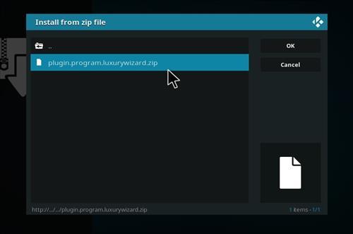 How to Install Blue Magic Kodi Build 18 Leia step 12