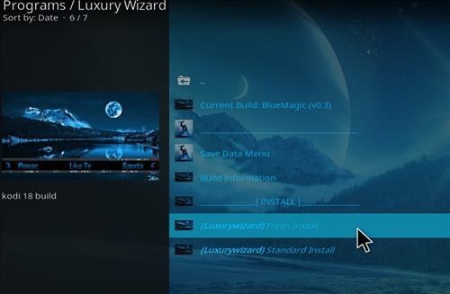 How to Install Blue Magic Kodi Build 18 Leia step 18