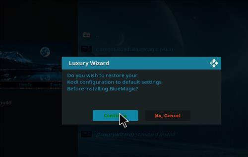 How to Install Blue Magic Kodi Build 18 Leia step 19