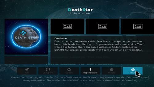 How to Install DeathStar Add-on Kodi 18 Leia step 18