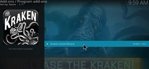 How to Install Kraken Kodi Build with Screenshots step 17