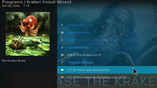 How to Install Kraken Kodi Build with Screenshots step 22