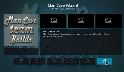 How to Install Man Cave X Kodi 18 Leia Build step 19