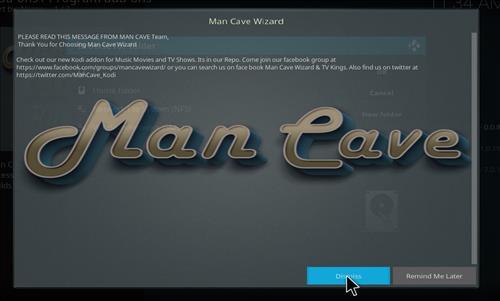How to Install Man Cave X Kodi 18 Leia Build step 21