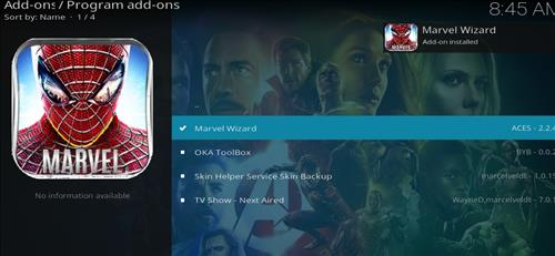 How to Install Marvel Kodi Build with Screenshots step 19