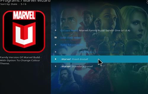 How to Install Marvel Kodi Build with Screenshots step 24