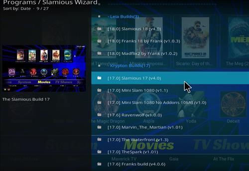 How to Install Slamious Kodi Build with Screenshots step 17