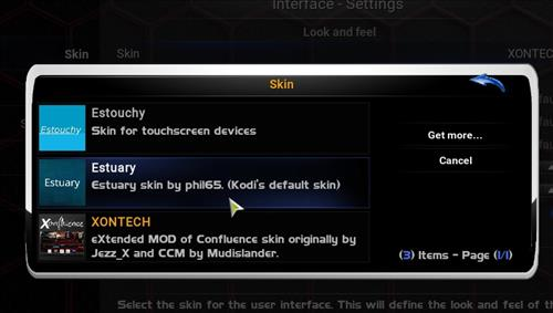 How to change the Skin back to Default Estuary xontech step 4