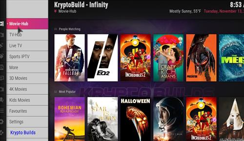 Best Working Kodi 18 Leia Builds 2018 infinity pic 1