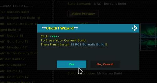 How to Install 18 RC1 Borealis Build step 25