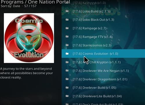 How to Install Cosmic Evolution Kodi Build with Screenshots step 17