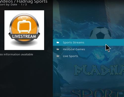 How to Install Fladnag Sports Kodi Add-on with Screenshots pic 2