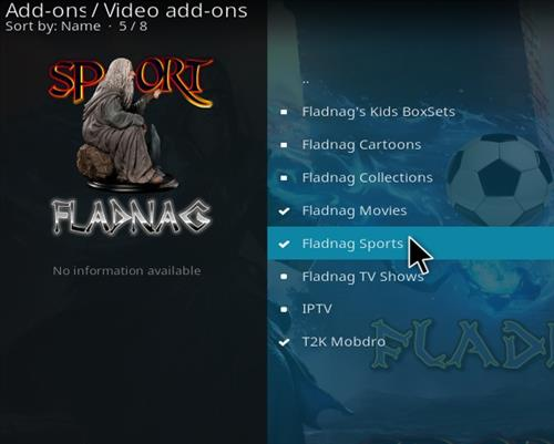 How to Install Fladnag Sports Kodi Add-on with Screenshots step 17