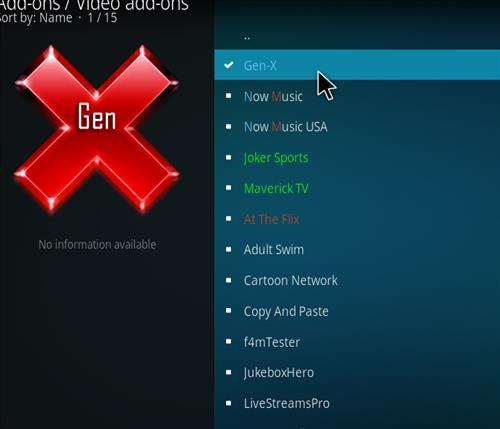 How to Install Gen-X Kodi Add-on with Screenshots step 17