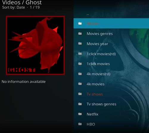 How to Install Ghost Kodi Add-on with Screenshots pic 2