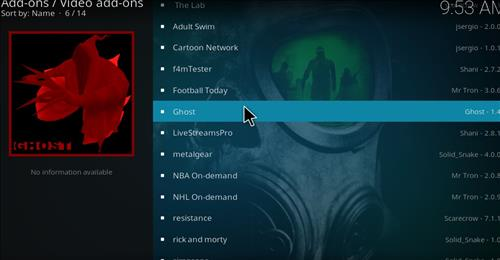 How to Install Ghost Kodi Add-on with Screenshots step 17