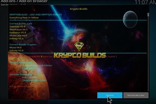 How to Install Infinity Build Kodi 18 Leia step 14